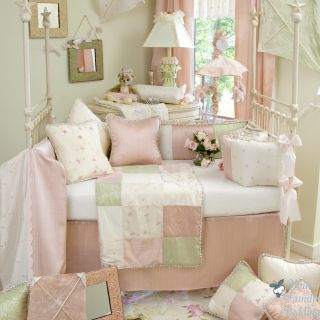 Glenna Jean Baby Girl Pink Green Boutique Crib Nursery Best Bedding Quilt Set