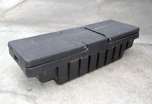 Nice Usable Condition Fiberglass or Heavy Plastic Truck Bed Tool Box No Key