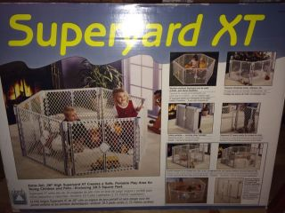 North States Superyard XT Gate Play Yard Baby Pet Great Condition