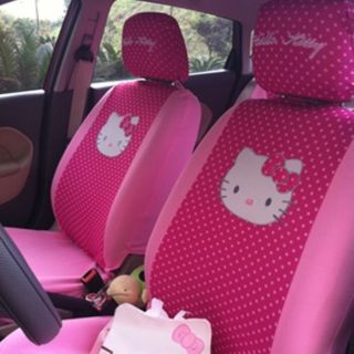 17pc Hello Kitty Cute Car Seat Cover and Other Car Accessories Cover for Gift