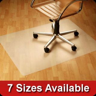 Office Chair Mat Hard Wood Floor Protector PVC Vinyl Free Computer Mat