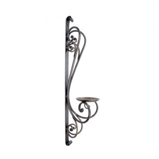 Pair Iron Wall Sconce Pillar Candle Holder Home Accents Home Decor