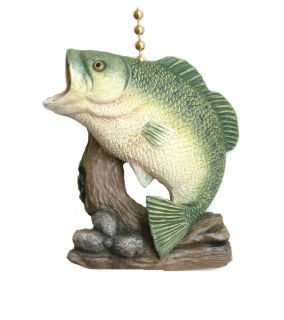 Gone Fishing Big Bass Decor Ceiling Fan Light Pull