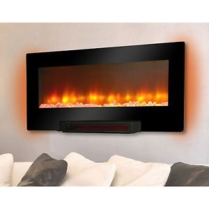 Electric Flat Panel Infrared Wall Mount Fireplace Heater Fireplace Mantel Mantle