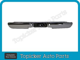 1993 2011 Ford Ranger Styleside Rear Step Bumper Face Bar Chrome Hitch 2 PC New