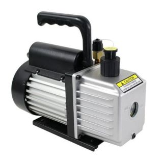 4CFM 1 3HP Rotary Vane Vacuum Pump HVAC Air Conditioner Refrigerant Single Stage