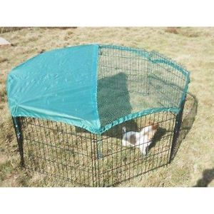 "New 8 Panel 24"" Pet Playpen w Door Cover Rabbit Enclosure Dog Cat"