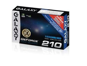 New Galaxy NVIDIA GeForce 210 1GB DVI HDMI VGA Graphics Video Card 21GGE8HX3AUM