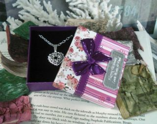 Family in Law Friends Heart Necklace Personalized Engraving Poem Gift Box 1 4
