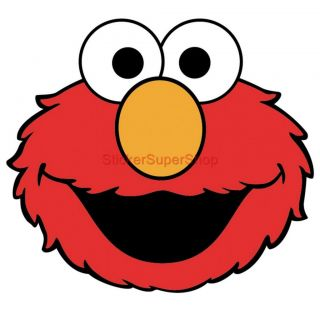 Choose Size XXL Elmo Face Decal Removable Wall Sticker Art Decor Sesame Street