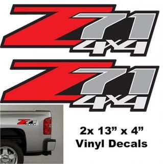 Pair 2 Z71 4x4 Vinyl Decal Truck Car Chevy Silverado GMC Sierra Sticker Parts