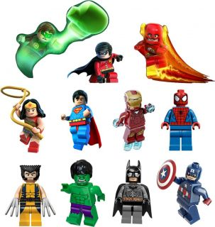 Lego DC Super Heroes Decal Removable Wall Sticker Home Decor Art Batman Superman