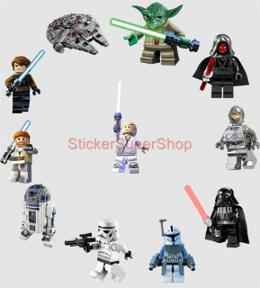 Lego Star Wars 11 Characters Decal Removable Wall Sticker Home Decor Art R2D2