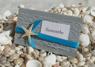Beach Wedding Place Card DIY Kit Urban Starfish Silver 25 Pcs