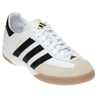 Adidas Samba Millennium Mens Samba White Black Leather Indoor Soccer Shoe