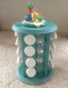 Fiesta Ware Fiestaware Turquoise Revolving Spice Rack Pitcher Coffee Pot Accent