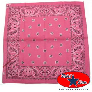Pink Traditional Bandana Punk Rockabilly Tattoo 80s Goth Cool Skater Emo Biker