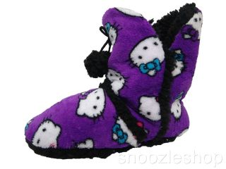 Womens Slippers Sanrio Hello Kitty Short UGG Boot Shoe Winter Fluffy Fleece New