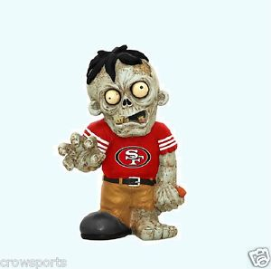 San Francisco 49ers Zombie Garden Gnome Resin Statue Gift NFL New