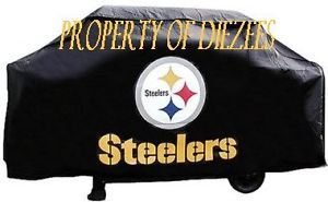 Pittsburgh Steelers NFL BBQ Gas Grill Cover with Logo