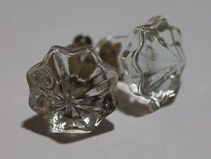 6 Star Shaped Crystal Glass Cabinet Knobs Pulls Cabinet Hardware