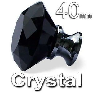 K9 Black Crystal Diamond Style Glass 4cm Knobs Handles for Cabinet Drawer Drawer