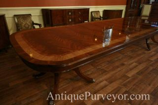 Extra Large Dining Table Long Dining Table with 3 Leaves 13ft Table