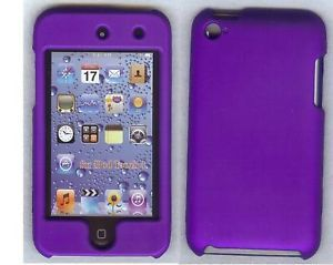 iPod Touch 4th Gen Purple Hard Plastic Case LCD Screen 8 32 64 G 8g 16g 32G 64G