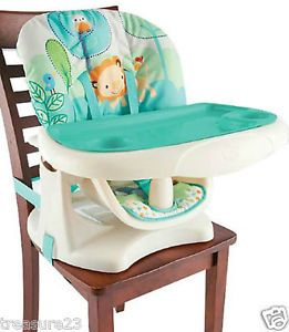 Bright Starts Playful Pals Owl Lion Bird Space Saver Booster High Chair New