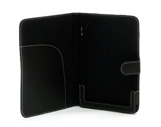 Black Leather Case Cover w Magnetic Tab for Barnes Noble Nook Color 1st Edi