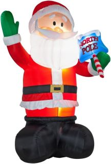 Giant 16ft Waving Santa Gemmy Airblown Inflatable Christmas Decor New