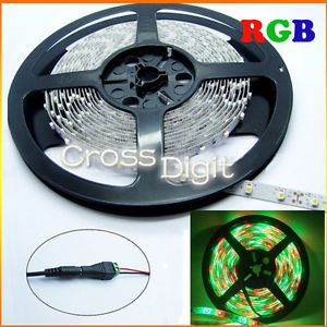 5M 16ft 3528 RGB Waterproof Flexible Strip 300 LED Light Remote Controller