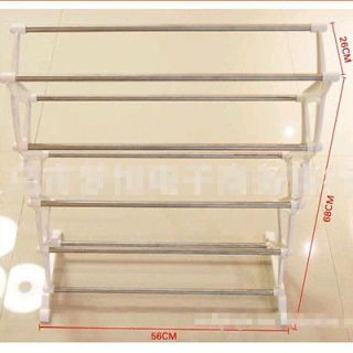 5 Tier Foldable Stainless Steel Shoe Rack Home Organization Housekeeping Compac