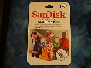 16GB SanDisk Cruzer Orbit USB 2 0 Flash Pen Drive SDCZ58 16g