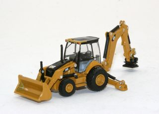 Custom Caterpillar 450E Backhoe Loader w Tamper Norscot Diecast 1 87 HO