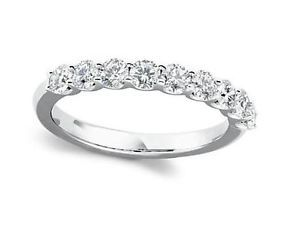 Anniversary Wedding Ring Band Natural 1 01 CTW Round Diamond Jewelry White Gold