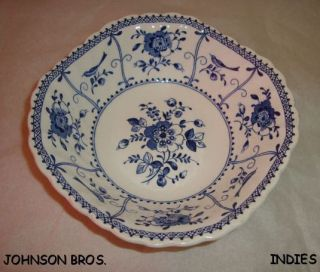 Vintage Johnson Bros Indies Made in England Ironstone Square Soup Salad Bowl