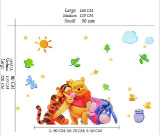 Winnie The Pooh Tiger II Removable Wall Sticker Decal for Kids Decor Home AU