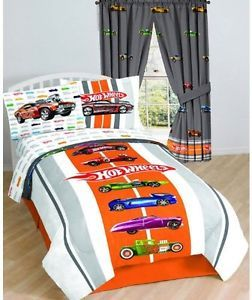 Hot Wheels Kids Twin Bed Sheet Set Bright Colorful Bedding Soft Comfortable