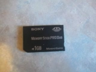 Sony 1GB Memory Stick Pro Duo Card Magic Gate