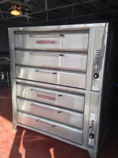 Blodgett 981 4 Deck Gas Pizza Baking Oven w New Stones 2009 Model Excellent