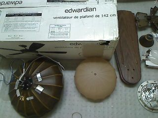 Monte Carlo 5ED56WAD L Edwardian 56 inch 5 Blade Outdoor Ceiling Fan w Light Kit