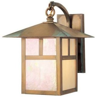 New 1 Light Mission MD Outdoor Wall Lamp Lighting Fixture Antique Brass Tiffany