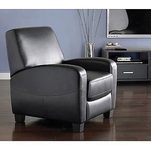 Comfortable Home Theater Faux Leather Recliner Black Living Room Chair Brand New