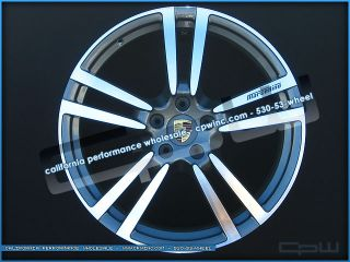 "22"" Porsche VW Audi Autobahn Wheels Gunmetal Machined Rims Only 2004 2013"