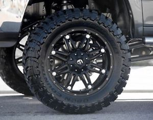 "22"" inch Fuel Hostage Black Off Road Wheel Tire Package"