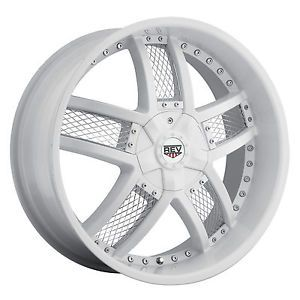 "22"" White Rev 867 Wheels GMC Chevy Ford Truck SUV F 150 Silverado 6 Lug"