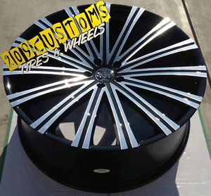 "4 24"" inch Wheels Tires Rims 5x115 Versante 230 Charger 2008 2009 2010 2011"