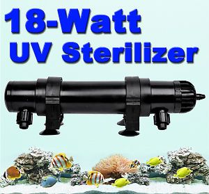 18W UV Ultraviolet Sterilizer Light Clarifier Aquarium Pond Koi Lamp Bulb Filter