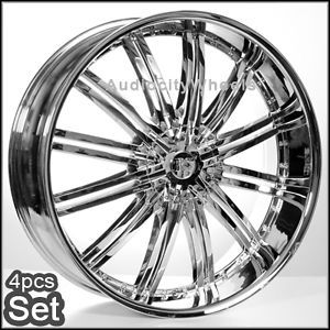 26inch Rims Chevy Ford Cadillac H3 GMC RAM F150 Wheels